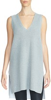1 STATE 1.STATE Contrast Back Ribbed Sleevless Tunic