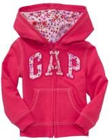 Gap Floral arch logo terry hoodie