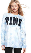 PINK Vintage Washed Long Sleeve Campus Tee