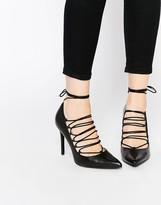 MANGO Lace Up Court Shoe