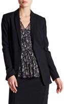 Elie Tahari Single Button Wool Blend Blazer