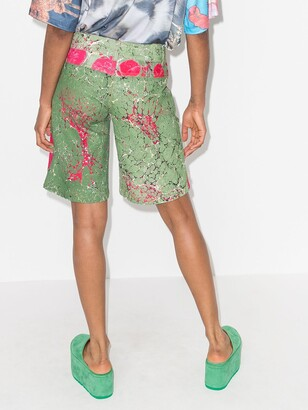 Chopova Lowena Marble-Effect Knee-Length Shorts