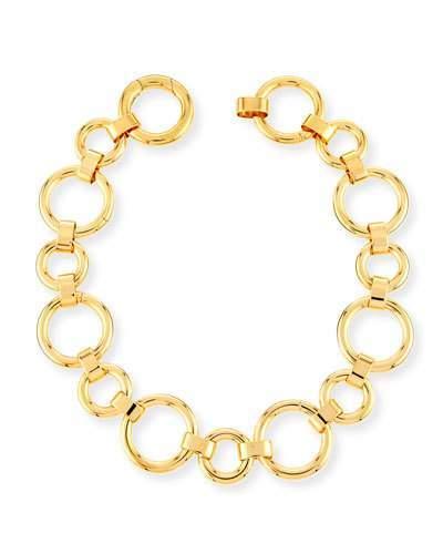 Vita Fede Moneta Circle Link Choker Necklace