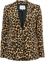 Frame leopard print blazer