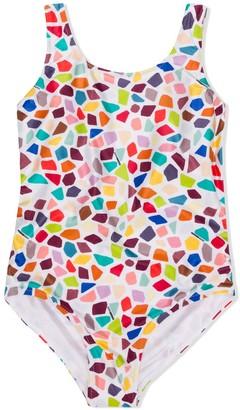 Missoni Kids Geometric Print Swimsuit