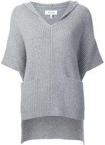 Derek Lam 10 Crosby hooded ribbed blouse