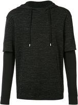 ATM Anthony Thomas Melillo double sleeve hoodie - men - Cotton/Polyester - S