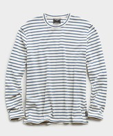 Todd Snyder Long Sleeve Japanese Nautical Stripe Tee in Blue