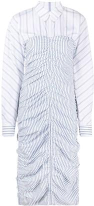 Ganni Striped Organic Cotton Shirt Dress