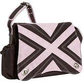 Kalencom Hannah's Messenger Diaper Bag (Chocolate/Pink) by