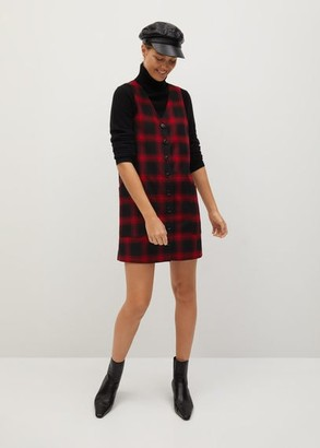 MANGO Check dress red - 2 - Women