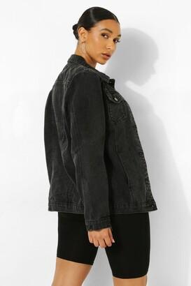 boohoo Zip Sleeve Denim Jacket