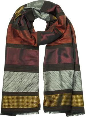 Mila Schon Woven Viscose and Fabric Blend Women's Scarf
