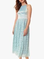 Oasis Evie Lace Satin Midi Dress