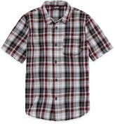 Vans Short Sleeve Woven Short Sleeve Button-Front Shirt Boys