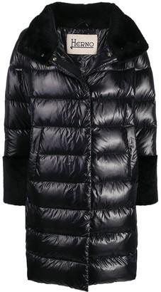 Herno Faux-Fur Trim Padded Coat