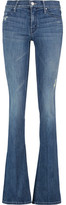 Mother The Runaway Distressed Mid-Rise Flared Jeans