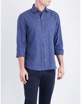 Corneliani ID regular-fit cotton-flannel shirt