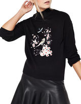 Miss Selfridge Embroidered Long Sleeve Pullover