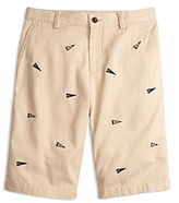 Brooks Brothers Boys' Varsity Pennant Chino Shorts - Little Kid, Big Kid