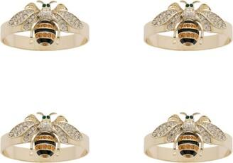 Joanna Buchanan Stripey Bee Slim Napkin Rings (Set of 4)