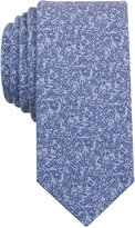 Bar III Men's China Blue Floral-Print Skinny Tie, Only at Macy's