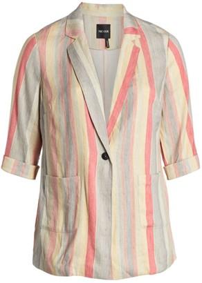 Nic+Zoe, Plus Size Sweetclover Striped Blazer