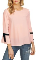 CeCe Women's Tie Bell Sleeve Blouse