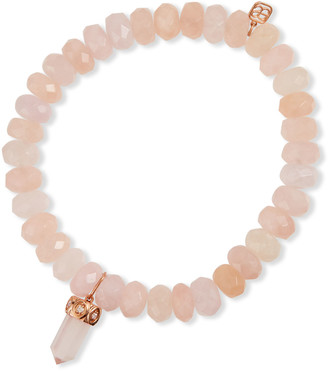 Sydney Evan Morganite and Rose Quartz Crystal Bracelet