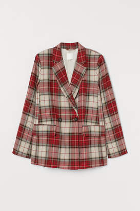 H&M Double-breasted Blazer - Red