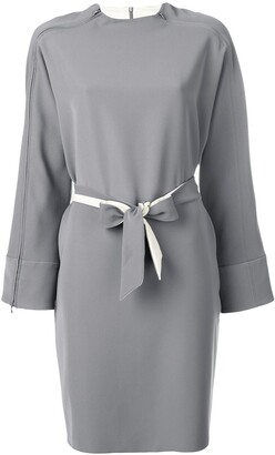 Emporio Armani belted zipped dress