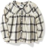 Old Navy Mandarin-Collar Plaid Tunic for Toddler