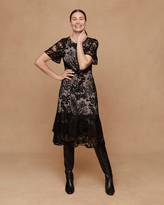Jigsaw Embroidered Lace Ruffle Dress