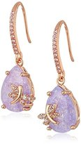 "Betsey Johnson Cubic Zirconia Critter"" Cubic Zirconia and Dragonfly Drop Earrings"