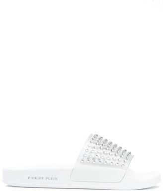 Philipp Plein Crystal Studded Sandals