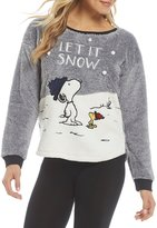 Peanuts Let it Snow Microfleece Sleep Top