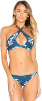 Mikoh Tahaa Halter Top in Blue. - size L (also in M,S)