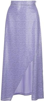 Olivia Rubin slit-detail high-waist skirt