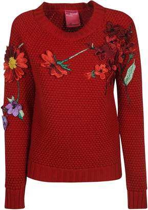 Blumarine Floral Appliques Sweater