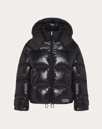 Valentino Duvet Couture Down Jacket With Hood Man Black 100% Poliammide M