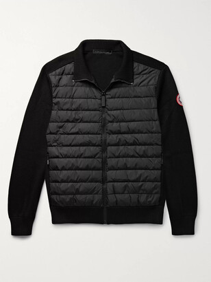 Canada Goose Hybridge Quilted Down Shell And Merino Wool Jacket - Black