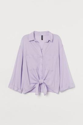 H&M Tie-hem shirt