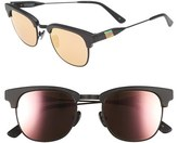 Westward Leaning Women's Olivia Palermo X 'Vanguard' Mirrored Sunglasses - Black Matte/ Rose Gold