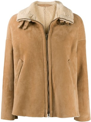 Salvatore Santoro zipped shearling lined jacket