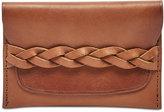 Fossil Men's Brett Leather Braided Card Case