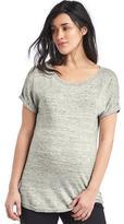 Maternity cuffed short sleeve sweater