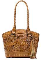 Patricia Nash Burnished Tooled Collection Zorita Tasseled Satchel