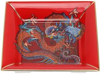 Shanghai Tang Dragon Square Fine Bone China Tray
