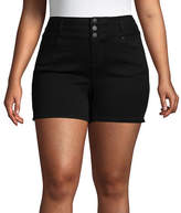 Blue Spice 5 High Rise Denim Shorts-Juniors Plus