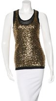 Robert Rodriguez Sequined Sleeveless Top